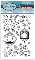 Prickley Pear Clear Stamp - Mini Birds