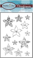Prickley Pear - Clear Stamp Set - Winter Poinsettia