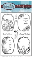 Prickley Pear - Clear Stamp Set - Spring Flourished Ovals