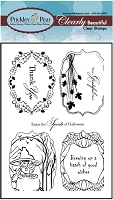 Prickley Pear - Clear stamp - Flourished Ovals 2
