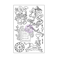 Prima - Heaven Sent Collection - 4x6 Cling Stamp