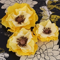 Prima - Poppies & Peonies Col  - Yellow