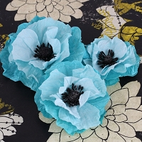 Prima - Poppies & Peonies Col - Blue