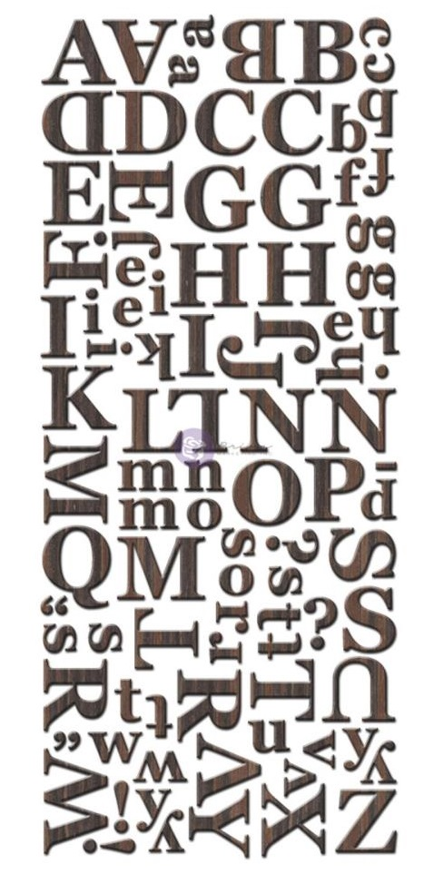 prima wood venner letter stickers dark brown chocolate With letter stickers for wood