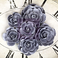 Prima - Sunrise Sunset Collection - Paper Roses Silver Blue