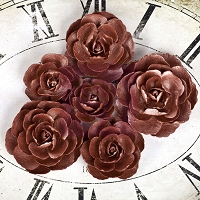 Prima - Sunrise Sunset Collection - Paper Roses Copper