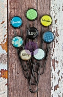 Prima - Free Spirit Collection - Typewriter Key Paper Clips