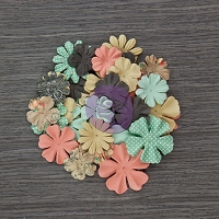 Prima - Something Blue Collection - Paper Flowers - Mr. & Mrs.