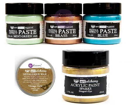 Prima - new Finnabair Mixed Media Paints, Waxes and Pastes