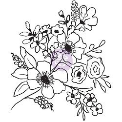 Prima - Christine Adolph Cling Stamps - Fresh Flowers #2
