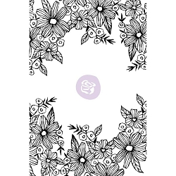 Prima - Christine Adolph Cling Stamps - Daisy Frame