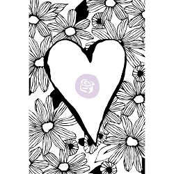 Prima - Christine Adolph Cling Stamps - Daisy Love