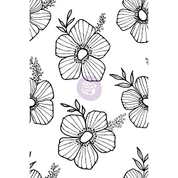 Prima - Christine Adolph Cling Stamps - Tossed Floral