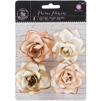 Prima - Kindled Mulberry Paper Roses - Sienna