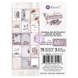 Prima - Lavender Collection - 3x4 Journaling Cards