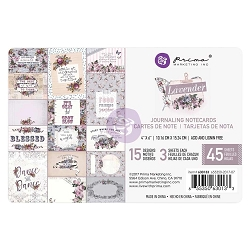 Prima - Lavender Collection - 4x6 Journaling Cards
