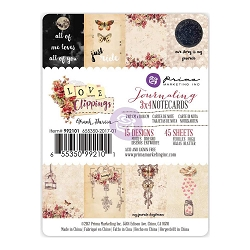 Prima - Love Clippings Collection - 3x4 Journaling Cards