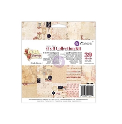 Prima - Love Clippings Collection - 6x6 Paper Pad
