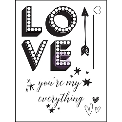 Prima - Love Clippings Collection - 3x4 Clear Stamp