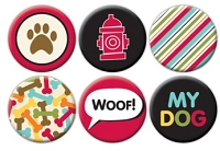 Queen & Co. - Flair Tin Badge Stickers - Pet