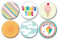 Queen & Co. - Flair Tin Badge Stickers - Summer