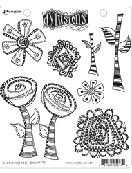 Dylusions - Cling Rubber Stamps - Everything's Rosy