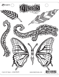 Dylusions - Cling Rubber Stamps - Flight of Fancy