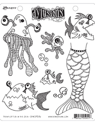 Dylusions - Cling Rubber Stamps - Plenty of Fish In The Sea