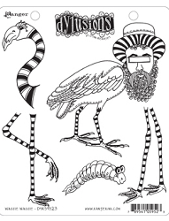 Dylusions - Cling Rubber Stamps - Waddle Waddle
