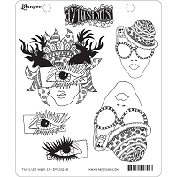 Dylusions - Cling Rubber Stamps - The Eyes Have It