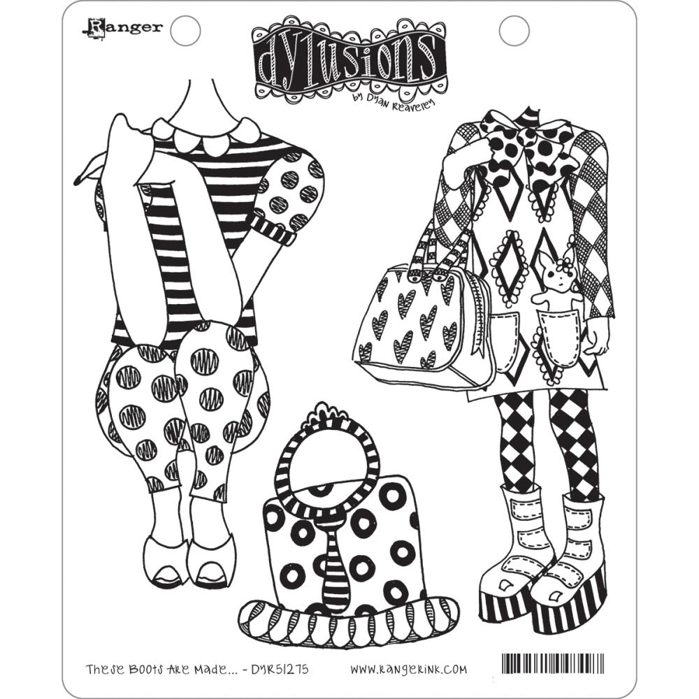 Dylusions Cling Rubber Stamps These Boots Are Made