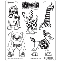 Stamper's Anonymous/Ranger - Dylusions Cling Stamps - Puppy Dog Tales