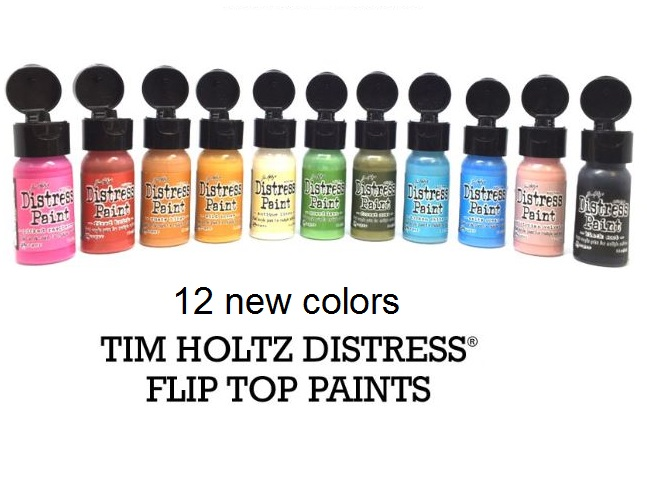 Ranger - 12 new Tim Holtz Distress Paint - FLIP CAP