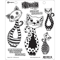 Dylusions - Cling Rubber Stamps - Puddy Cat