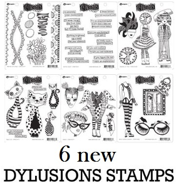 Dylusions - 6 new Rubber Stamps by Dyan Reaveley