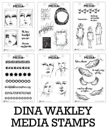 Dina Wakley - 6 new Rubber Stamp sets