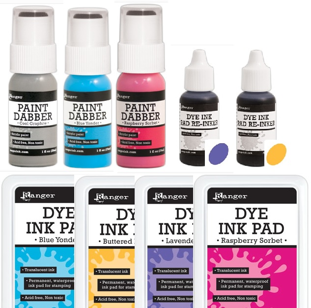Ranger - new colors of Dye Pads, Reinkers & Paint Dabbers