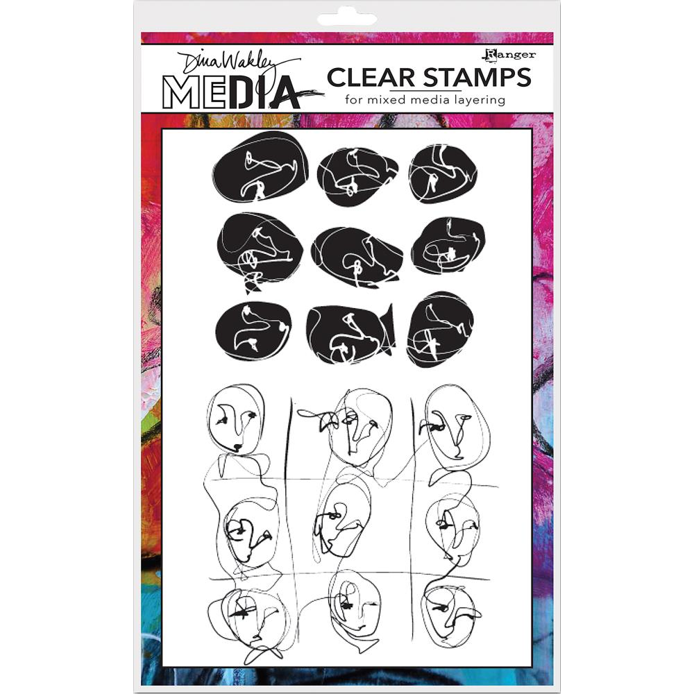 Dina Wakley Clear Stamps
