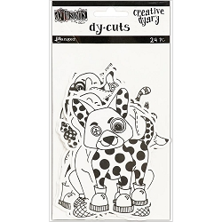 Ranger - Dyan Reaveley's Dylusions Creative Dyary Die Cuts - B&W Animals