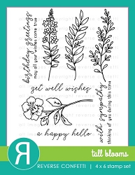 Reverse Confetti - Clear Stamps - Tall Blooms