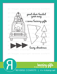 Reverse Confetti - Clear Stamps - Bearing Gifts