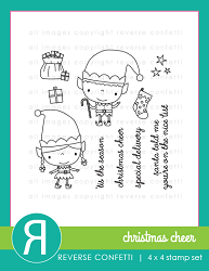 Reverse Confetti - Clear Stamps - Christmas Cheer