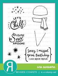 Reverse Confetti - Clear Stamps - Sno Awesome
