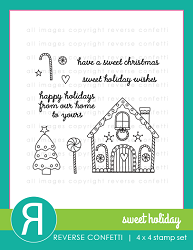 Reverse Confetti - Clear Stamps - Sweet Holiday