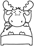 Riley and Company Cling Mounted Rubber Stamp - Sick Riley
