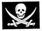 Rubber Stamp Avenue-Cling Stamp-Pirate Flag