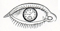 Rubber Stamp Avenue - Cling Stamp - Eye with Watch