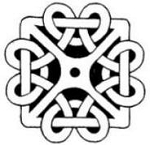 Rubber Stamp Avenue-Cling Stamp-Square Celtic Knot
