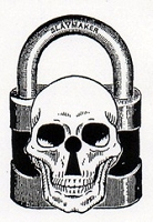 Rubber Stamp Avenue - Cling Stamp - Skull Lock