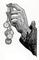Rubber Stamp Avenue - Cling Stamp - Hand with Watches